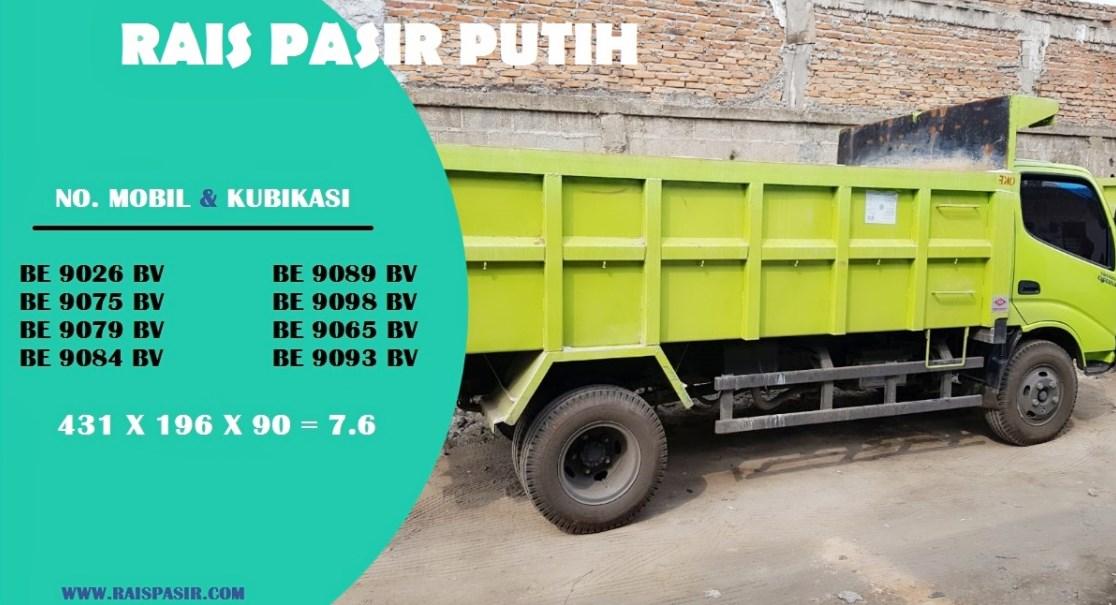 Sewa Dump Truck dan Jual Pasir Putih Bangka di Kebon Bawang Hub 08118168989